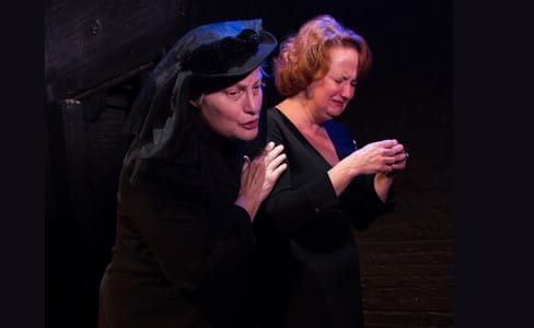 Jean H. Miller (Nanny) and Kerri Rambow (Doreen ) in George Is Dead (Photo: Chelsea Bland)