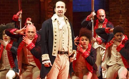 Lin-Manuel Miranda and the cast of Hamilton (Photo: Joan Marcus)
