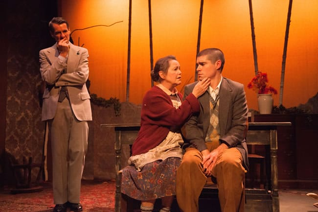 Christopher Henley, Charlotte Aiken and Séamus Miller in Holiday Memories from WSC Avant Bard (Photo: DJ Corey)