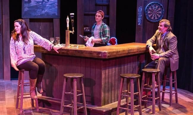(l-r) Susan Marie Rhea, Josh Stiklin and Mark A. Rhea in An Irish Carol at Keegan Theatre (Photo:  Mike Kozemchak)