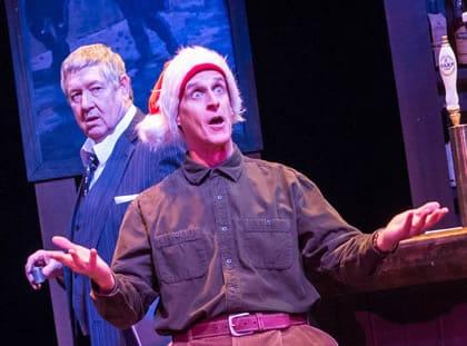 (l-r) Kevin Adams and Timothy Lynch in An Irish Carol at Keegan Theatre (Photo:  Mike Kozemchak)