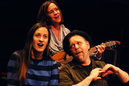 (l-r) Katie Jeffries, Rose McConnell, and Sasha Olinick in Wish List at The Hub Theatre (Photo: Jim DeVaughn)