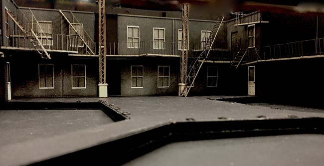View of Misha Kachman's model for West Side Story