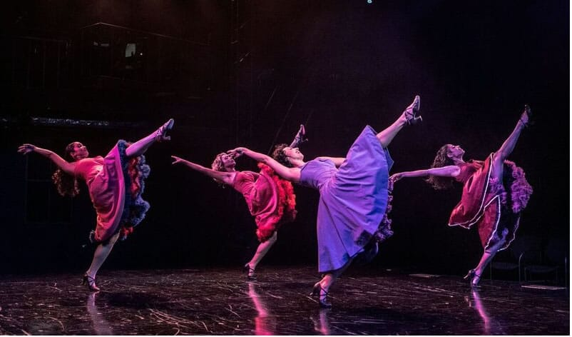 (l-r) Jasmine Alexis (Teresita), Olivia Ashley Reed (Consuelo), Natascia Diaz (Anita), and Ilda Mason (Francisca) in West Side Story at Signature Theatre. (Photo: Christopher Mueller)