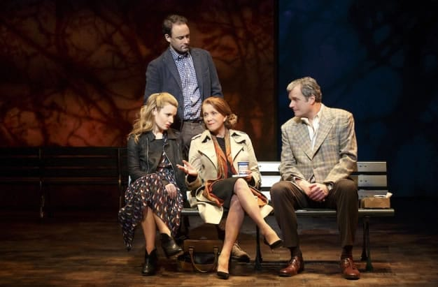(l-r) Kate Arrington, Greg Keller, Linda Lavin and John Procaccino in My Mother's Brief Affair (Photo: Joan Marcus)