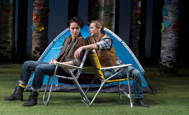 Sofia Jean Gomez and Julia Coffee in Center Stage's As You Like It (Photo: Richard Anderson)