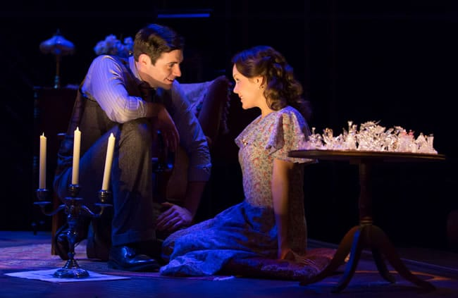 Thomas Keegan as the Gentleman Caller and Jenna Sokolowski as Laura in the Ford's Theatre production of The Glass Menagerie. (Photo: Scott Suchman)