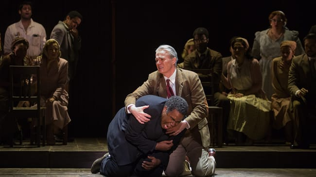 Eric Owens as Stephen Kumalo and Wynn Harmon as James Jarvis in Lost in the Stars, produced by Washington National Opera. (Photo: Karli Cadel).