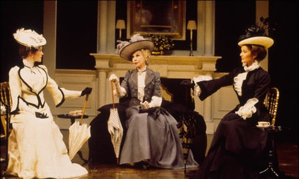(l-r) Madeleine Potter, Kim Hunter, and Stephanie Beacham in An Ideal Husband, on Broadway, 1996