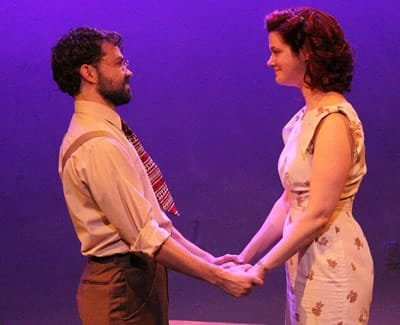 Louis Lavoie as Matt and Rebecca Ellis as Sally in Talley's Folly at Peter's Alley (Photo: Eddy Parker)