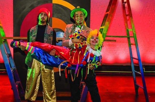 (l-r) José Antonio González, Alex Iraheta and Sharon Desiree in The World Is a Handkerchief at GALA Hispanic Theatre. (Photo: Stan Weinstein)
