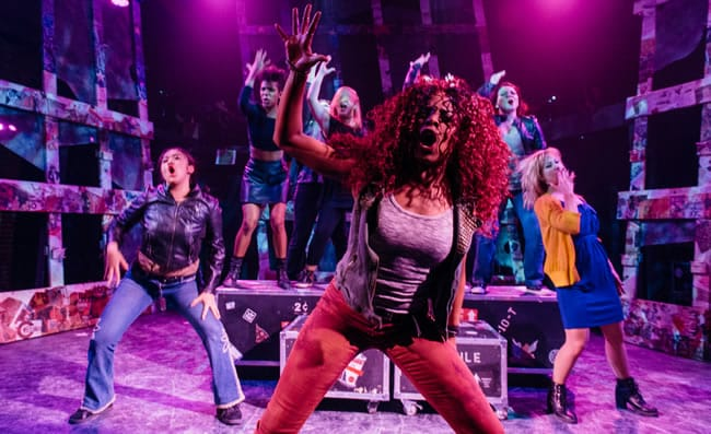 The cast of American Idiot at Keegan Theatre. (Photo: Cameron Whitman Photography)