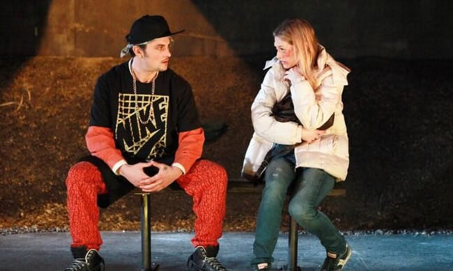 Shiloh Fernandez and Marin Ireland in Ironbound at Rattlestick Playwrights Theater (Photo: Sandra Coudert)