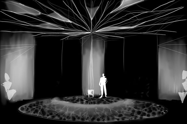 Concept for the set design by Betsy Zuck for The Electric Baby by