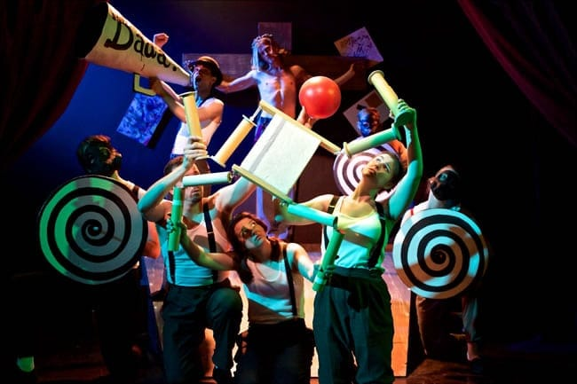 The cast of Hugo Ball (Photo courtesy of Pointless Theatre)