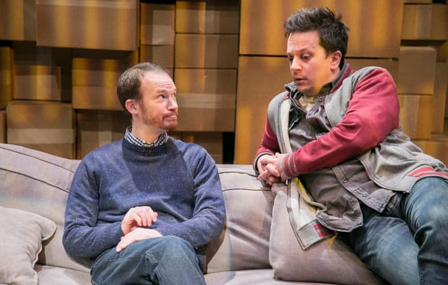 Daniel Corey as Astor and Rex Daugherty as Jesse in Hunting and Gathering at Rep Stage (Photo: Katie Simmons-Barth) in Hunting and Gathering at Rep Stage (Photo: Katie Simmons-Barth)