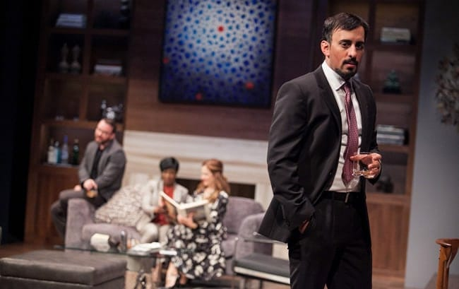Nehal Joshi as Amir, with Joe Isenberg, Felicia Curry and Ivy Vahanian, in Disgraced at Arena Stage at the Mead Center for American Theater