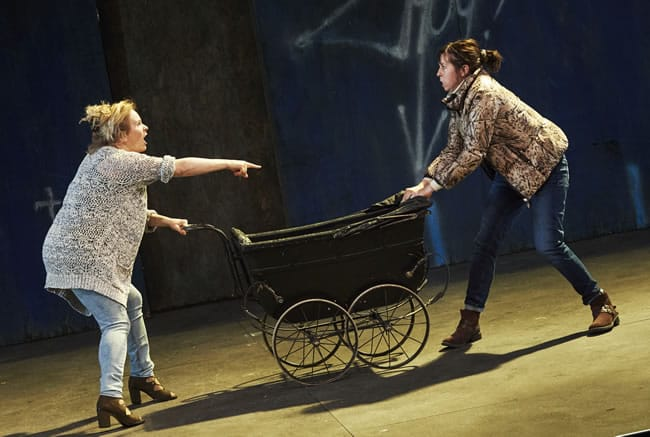 Janet Moran (Mrs. Gogan) and Eileen Walsh (Bessie Burgess) in The Plough and the Stars by Sean O'Casey (Photo: Ros Kavanagh for The Abbey Theatre)