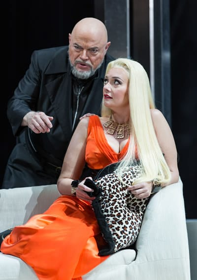 Eric Halvarson as Hagen and Melissa Citro as Getrune in Twilight of the Gods at The Kennedy Center (Photo: Scott Suchman)