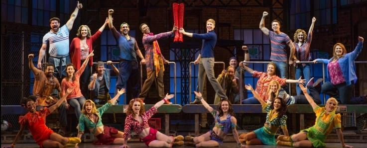 The touring company of Kinky Boots, at the Kennedy Center