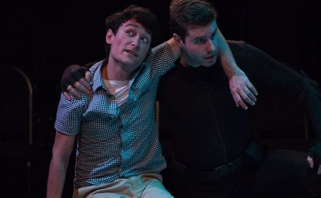 (l-r) Christopher Carillo and Joe Graf in Man in Peril at CulturalDC's Source Festival (Photo: Teresa Wood Photography)