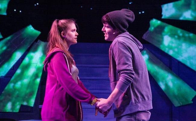 Caroline Dubberly and Christian Montgomery in Keegan Theatre's Next to Normal (Photo: C. Stanley Photography)