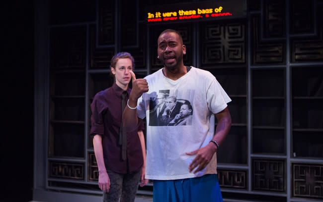 Katrina Clark. and Aarron Loggins in Sign Language at CulturalDC's Source Festival (Photo: Teresa Wood Photography)