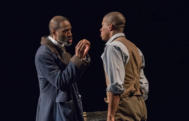 (l-r) Brian D. Coats and Damian Thompson in pen/man/ship at Contemporary American Theater Festival (Photo: Seth Freeman)
