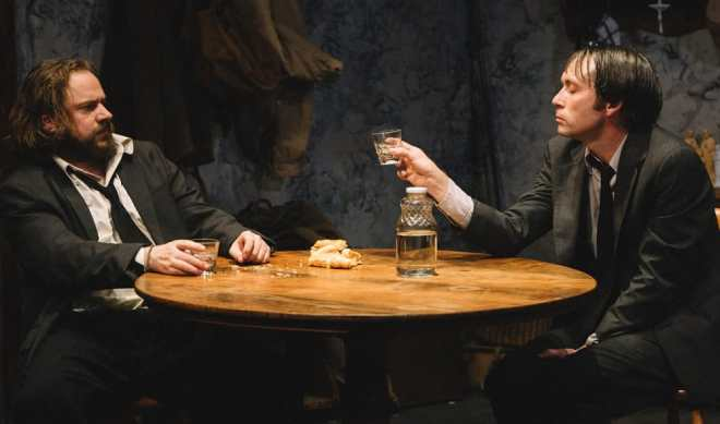 Matthew Keenan as Coleman and Bradley Foster Smith as Valene in The Lonesome West at Keegan Theatre (Photo: Cameron Whitman Photography)