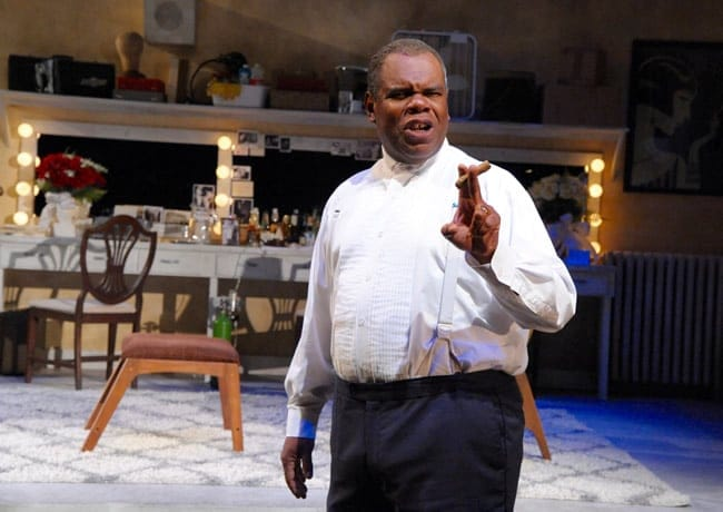 Craig Wallace as Joe Glaser in Satchmo at the Waldorf from Mosaic Theater Company of DC (Photo by Stan Barouh)