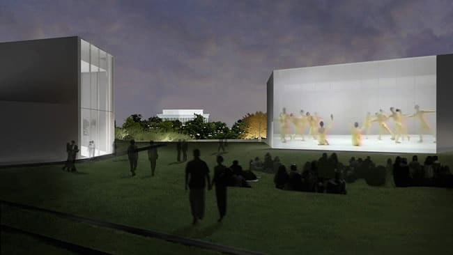Illustration by Steven Holl Architects of the Expansion Projects building and video wall