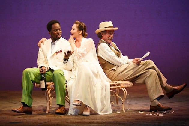 (l-r) Harold Perrineau, Diane Lane, Joh Glover in Roundabout Theatre's The Cherry Orchard (Photo: Joan Marcus)