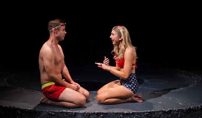 Kiernan McGowan and Emily Kester as Orpheus and Eurydice in Sarah Ruhl's Eurydice at NextStop Theatre (Photo: Traci J. Brooks Studios)