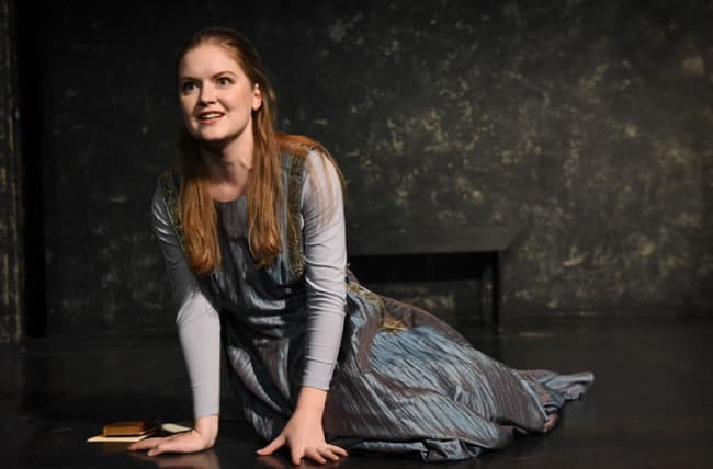 Ali Evarts as Ophelia in Compass Rose's production of Hamlet (Photo: Stan Barouh)