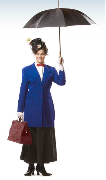 Patricia Hurley as Mary Poppins at Olney Theatre Center