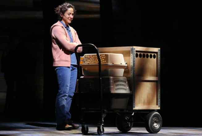 lyssa Wilmoth Keegan as Bonnie Harris in Come From Away at Ford's Theatre in September, 2016 (Photo: Carol Rosegg)