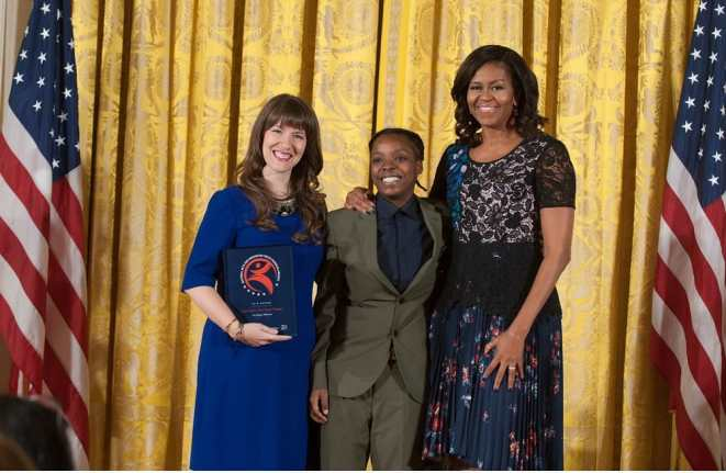 From True Colors: OUT Youth Theatre: Evelyn Francis and Trae Weekes (Photo courtesy of NAHYP Awards)