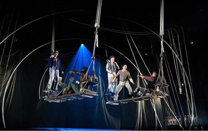 The cast of Lookingglass Theatre's Moby Dick at Arena Stage (Photo: Greg Mooney)