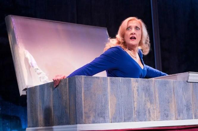 Donna Migliaccio (Oralene in Silver Belles at Signature Theatre (Photo: Christopher Mueller)