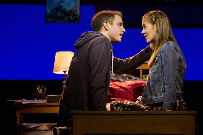 Ben Platt and Laura Dreyfuss in Broadway production of Dear Evan Hansen (c)Matthew Murphy