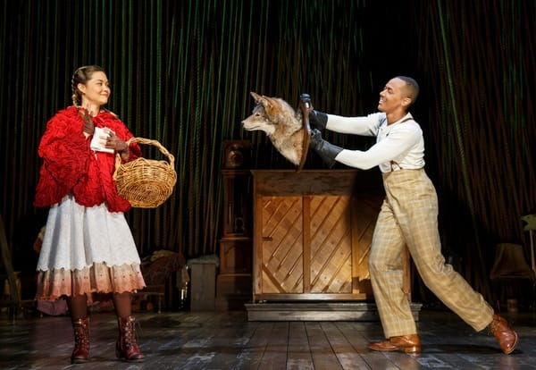 Lisa Helmi Johanson and Anthony Chatman II in Fiasco Theater's production of Into the Woods at The Kennedy Center (Photo: Joan Marcus)