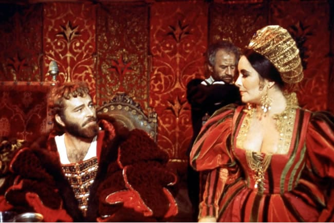 Richard Burton and Elizabeth Taylor in the 1967 film The Taming of the Shrew