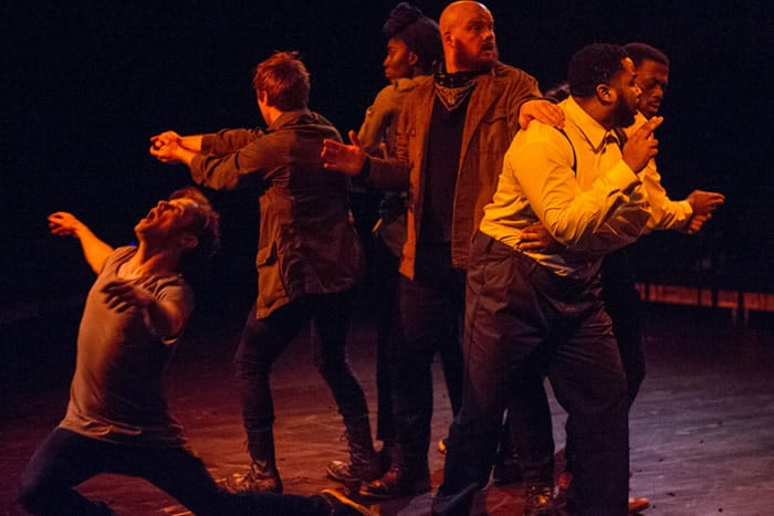 Violence versus pacifism . Brown versus Douglass. The Raid at Theater Alliance (review)