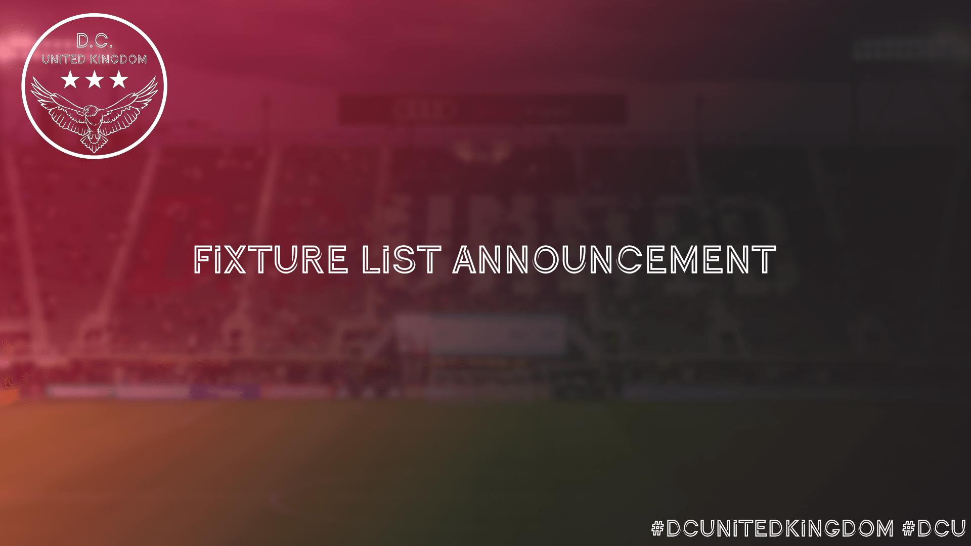 DC United Fixture List
