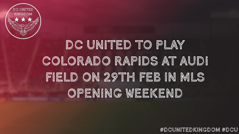 Read more about the article DC United to play Colorado Rapids in home opener