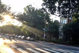Cyclists on East Capitol Street
