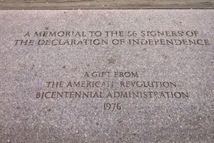 Memorial to the signers of the Declaration of Independence.