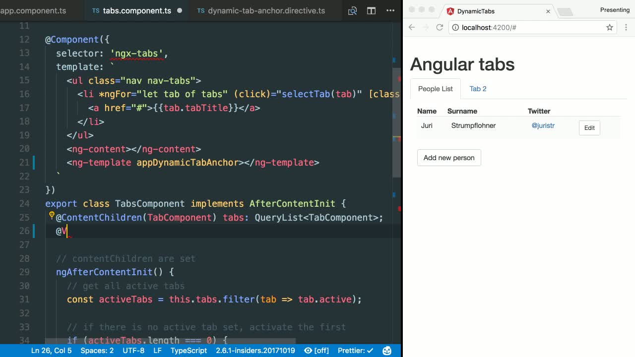 Create Dynamic Components In Angular From Juristr On Eggheadio