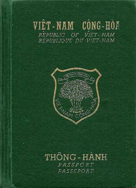 Passport VNCH. Nguồn: OntheNet