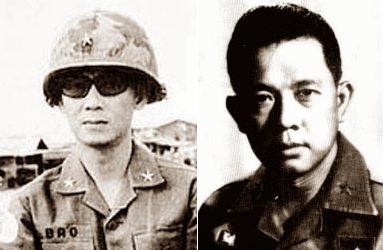 Hai vị tướng bị quan CSVN bắt làm tù binh (tháng 4, 1975). Nguồn: OntheNet